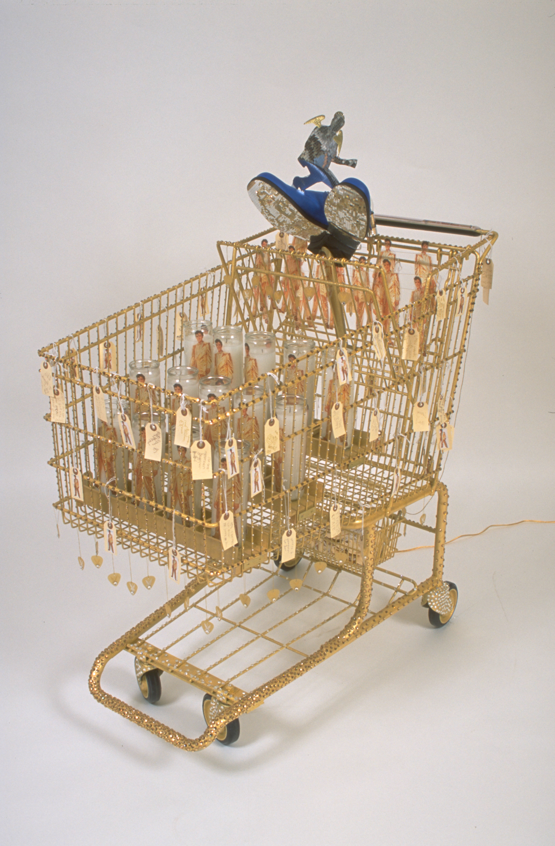 All Shrined Up Linda Dolack Large Sculpture 65th Birthday Elvis Mixed Media Grocery Cart Created for Intuit Gallery